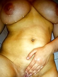 Wife, Shower, Amateur big tits, Wifes tits, Big tit wife