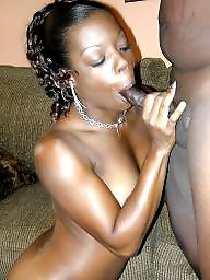 Black cock, Swallow, Ebony blowjob, Black amateur