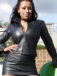 Leather, Latex, Milf upskirt, Milf upskirts
