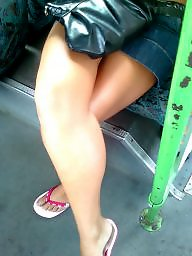 Legs, Leggings, Bus, Hungarian, Crossed legs, Teen legs