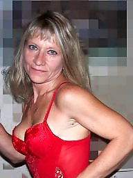 Lady, Red, Blonde milf, Lady milf