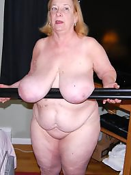 Grandma, Bbw, Home, Mature big boobs, Big mature