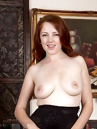 Spreading, Spread, Hairy pussy, British, Redhead, Spreading pussy