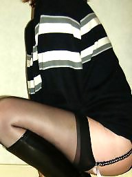 Boots, Stocking, Boot, Black stocking