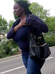 African, Small, Candid, Huge, Huge boobs, A bra