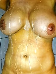My wife, Shower, Amateur wife, Big boobs, Wifes tits, Wifes big tits
