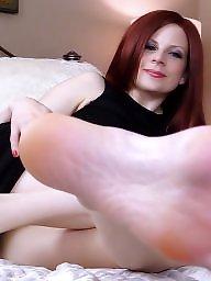 Fetish, Redhead, Foot, Foot fetish, Redheads