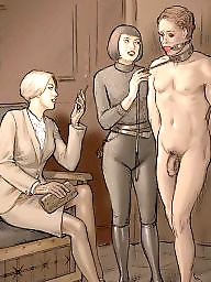 Femdom, Femdom cartoon, Femdom cartoons, Bdsm cartoon, Cartoon bdsm, Art
