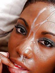 Interracial creampie, Eat, Eating