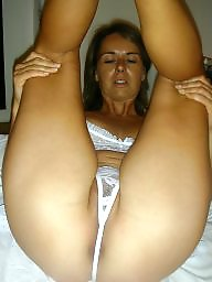 Home, Nude, Work, Milf nude, Milf boobs, Brunette milf