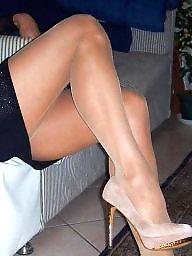 Heels, High heels, Teen stockings, High