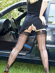 Car, Nylons, Cars, Ladies