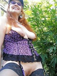 Mature redhead, Garden, Redhead mature, Redhead amateur