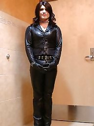 Latex, Pvc, Leather, Boots, Mature leather, Mature pvc