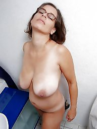 Mature porn, Cream, Glasses, Mature boobs, Big mature, Mature glasses