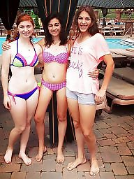 Girl, Teen bikini, Bikini beach