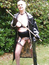 Granny, Mature outdoor, Pvc, Outdoor, Hot granny, Granny stockings