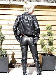 Leather, Milf ass, Leather outfit