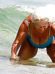 Granny, Mature, Busty, Granny beach, Busty mature, Mature beach