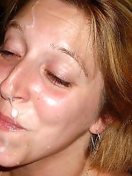 Exposed, Milf facial, Amateur facials