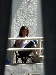Neighbor, Pretty, Upskirt voyeur, Neighbors