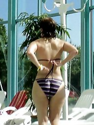 Bikini, Candid, Candid ass, Milf ass, Big ass milf, Milf big ass