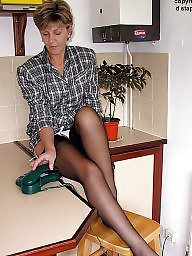 Kitchen, Mature stockings, Uk mature, Mature stocking, ‌kitchen