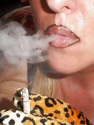 Smoking, Blonde milf, Smoke, Blowjobs, Leoparde