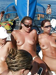 Beach, Girls, Fucked, Public fuck, Public boobs