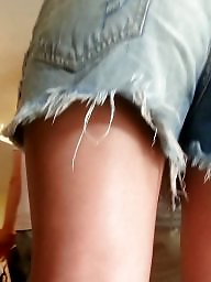 Jeans, Spy, Shorts, Romanian, Teen ass, Short