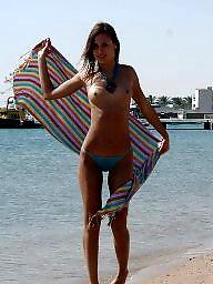 Big boobs, Beach, Public boobs