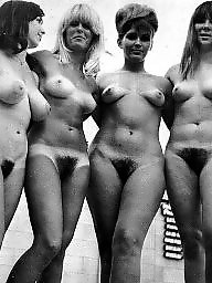 Vintage, Women, Group, Naked, Vintage amateur