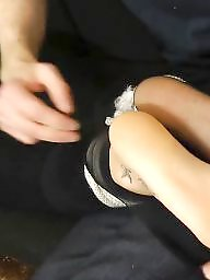 Nylon feet, Feet nylon, Stocking feet, Sweaty, Amateur stockings, Amateur nylon