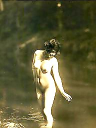 Lady, Vintage amateur, Water, Vintage amateurs