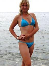 Russian mature, Mature beach, Mature russian