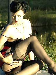 Upskirt, Ladies, Sexy stockings, Sexy lady