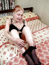 Granny, Old granny, Stockings, Strip, Old grannies, Granny stockings
