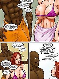 Interracial, Interracial cartoons