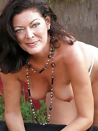 Strip, Garden, Brunette, Brunette mature, Mature strip, Mature brunette