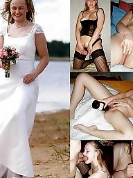 Bride, Amateur, Dressed undressed, Dress, Dressed, Undressed