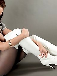 Boots, Pantyhose, Stockings, Thighs, Grey, Boot