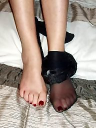 Mature stockings, Mature feet