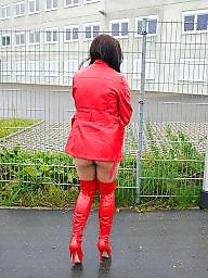 Public, Red, Public slut, Nudity