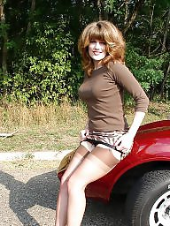 Car, Cars, Ladies, Car upskirt