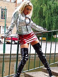 Leather, Latex, Pvc, Boots, Mature leather, Mature porn