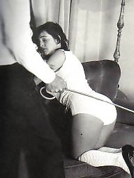 Vintage, Panties, Retro, Girl, Punish, White