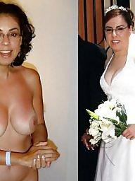 Bride, Dressed undressed, Dress undress, Milf stockings, Undressed, Undress