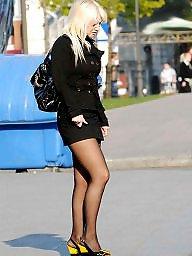 Street, Nylon stockings, Nylon, Amateur nylon