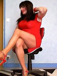 Upskirt, Milf upskirt, Upskirt milf, Upskirts, Sexy milf, Red