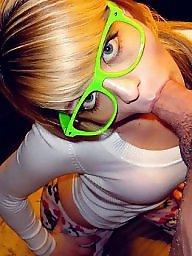 Glasses, Glass, Blowjob